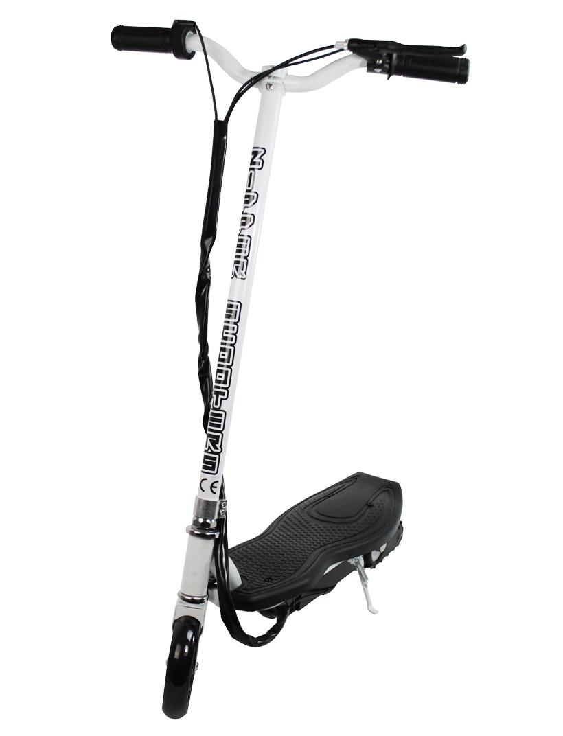 120w zipper micro scooter niet vouwen zwart en wit. Black Bedroom Furniture Sets. Home Design Ideas